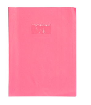 PROTEGE CAHIER 17X22 OPAQUE ROSE