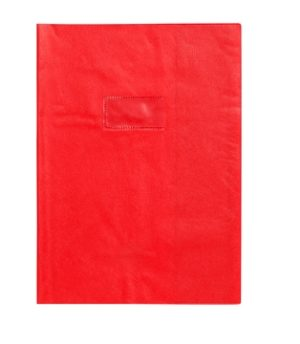 PROTEGE CAHIER 17X22 OPAQUE ROUGE