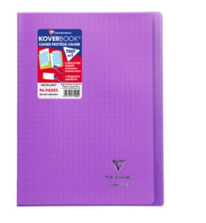 CLAIREFONTAINE CAHIER KOVERBOOK BLEU A4 96P SEYES